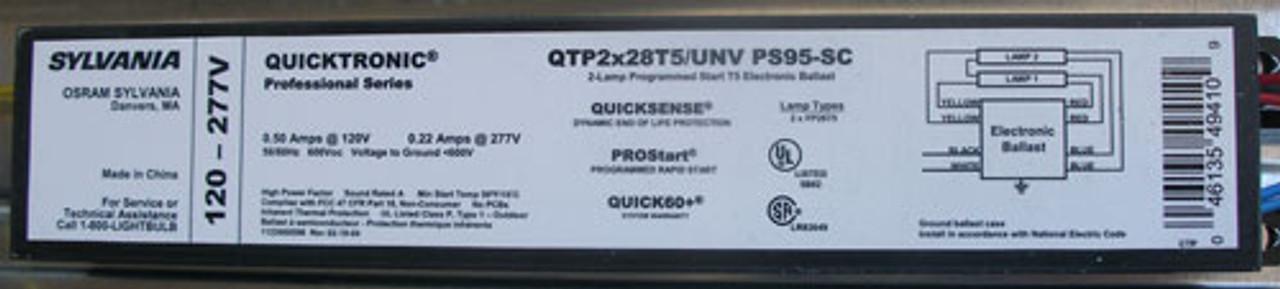 Sylvania 2RTS28T5M Recessed T5 Grid Troffer w/ QTP2x28T5 Electronic Ballast - New
