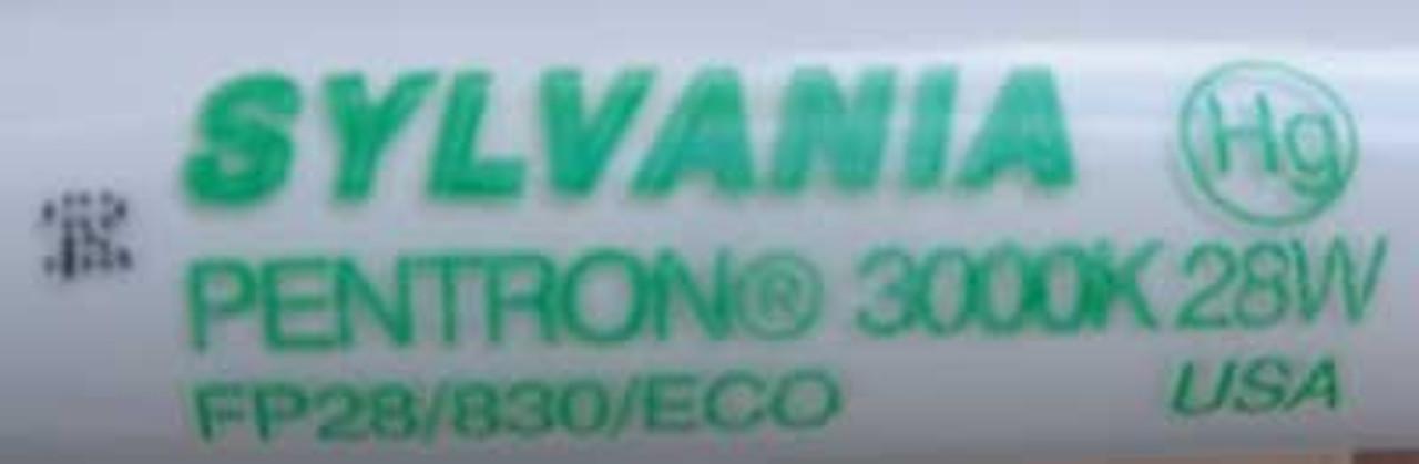 "Sylvania FP28/830/ECO 28 Watt 3000K 46"" T5 Fluorescent Bulb, Box of 40 - New"