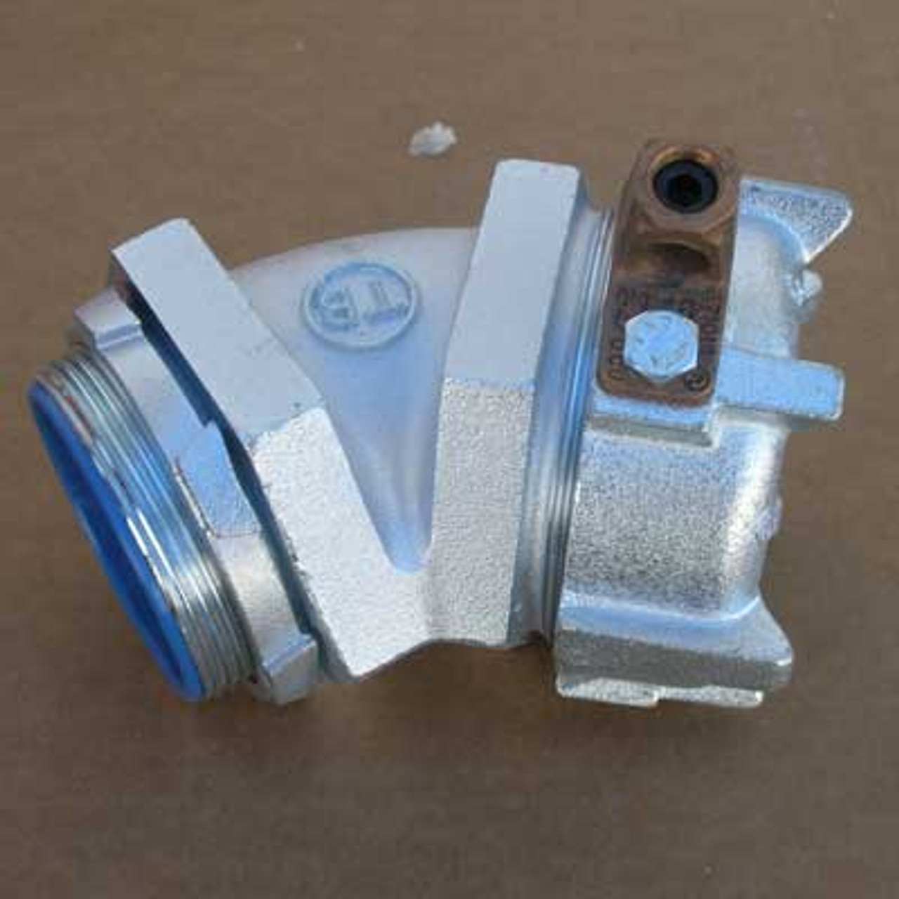 """T&B Fittings 5349GR 3"""" Conduit Connector w/ 45 Degree Angle"""