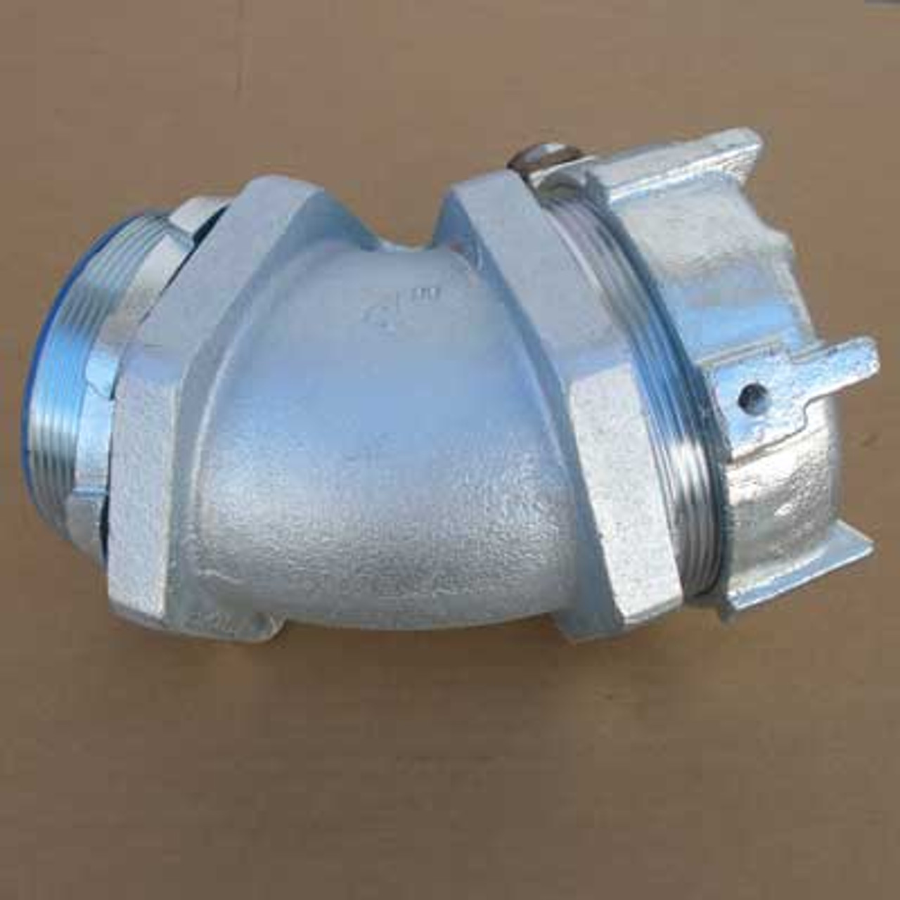 """T&B Fittings 5350GR 4"""" Conduit Connector w/ 45 Degree Angle - New"""