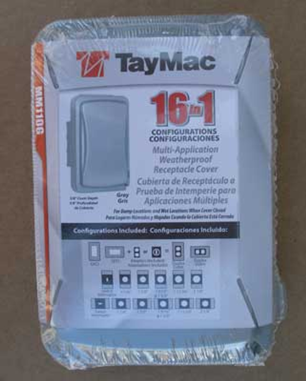 TayMac MM110G Weatherproof 1 Gang Outdoor Receptacle Cover, Lot of 2 - New