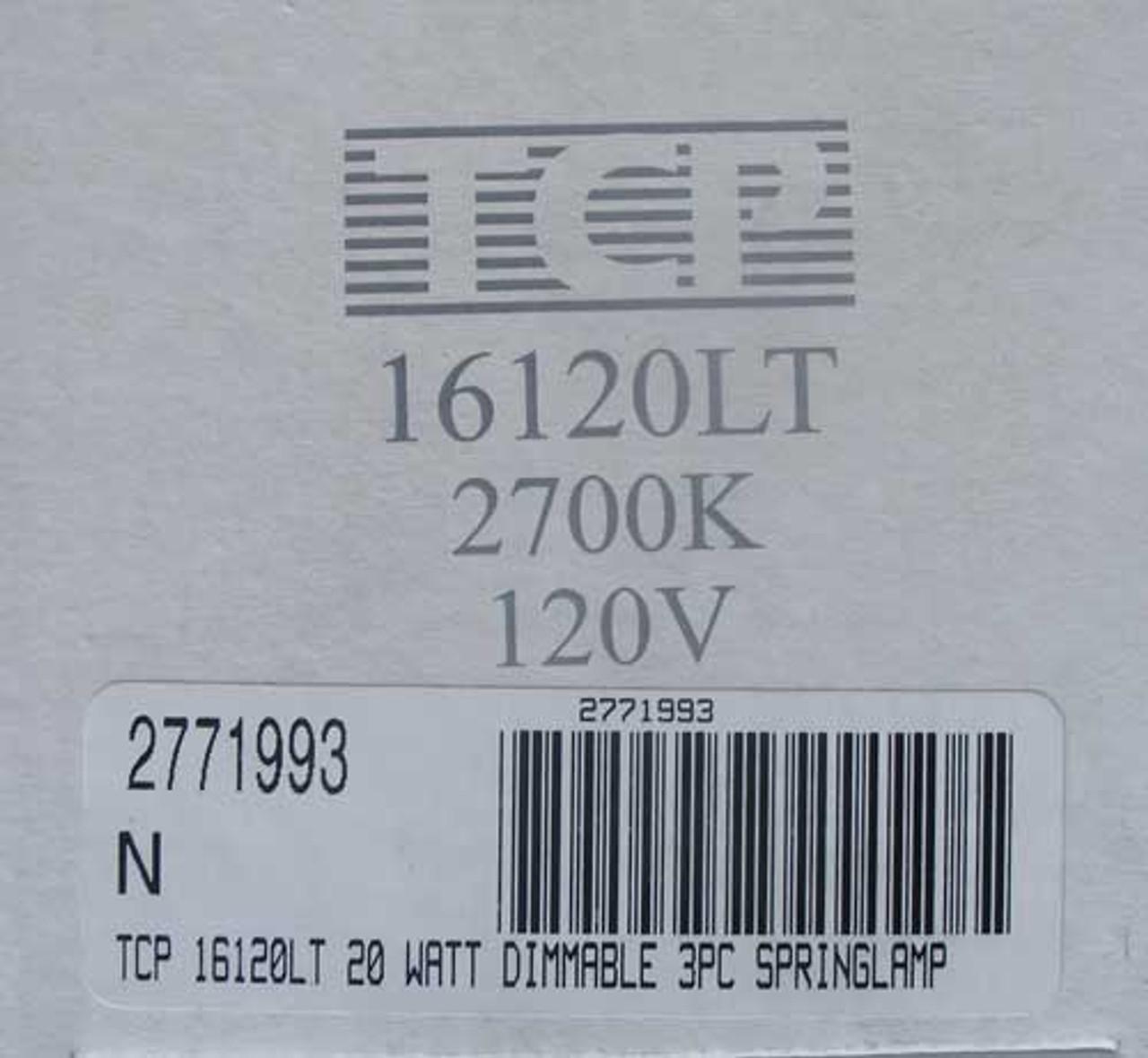 TCP 16120LT 20 Watt Dimmable Springlamp 120V 2700K - New