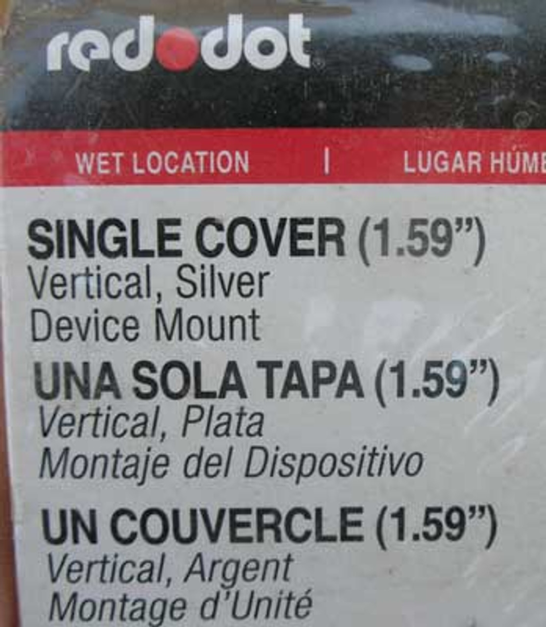 Thomas & Betts Red Dot CCSV Verticle Single Cover - New