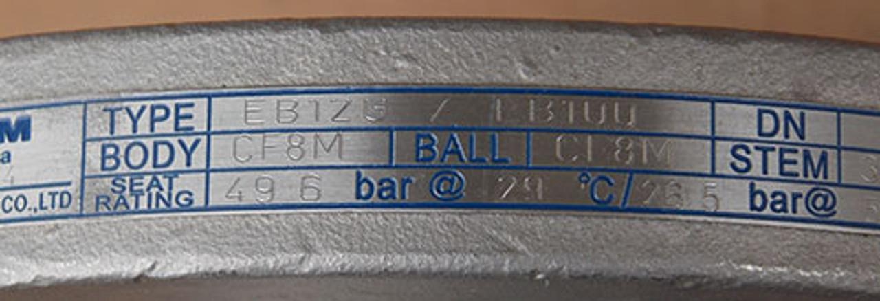"Tyco KTM EB12 1"" Locking Ball Valve 150-1500lbs - New"