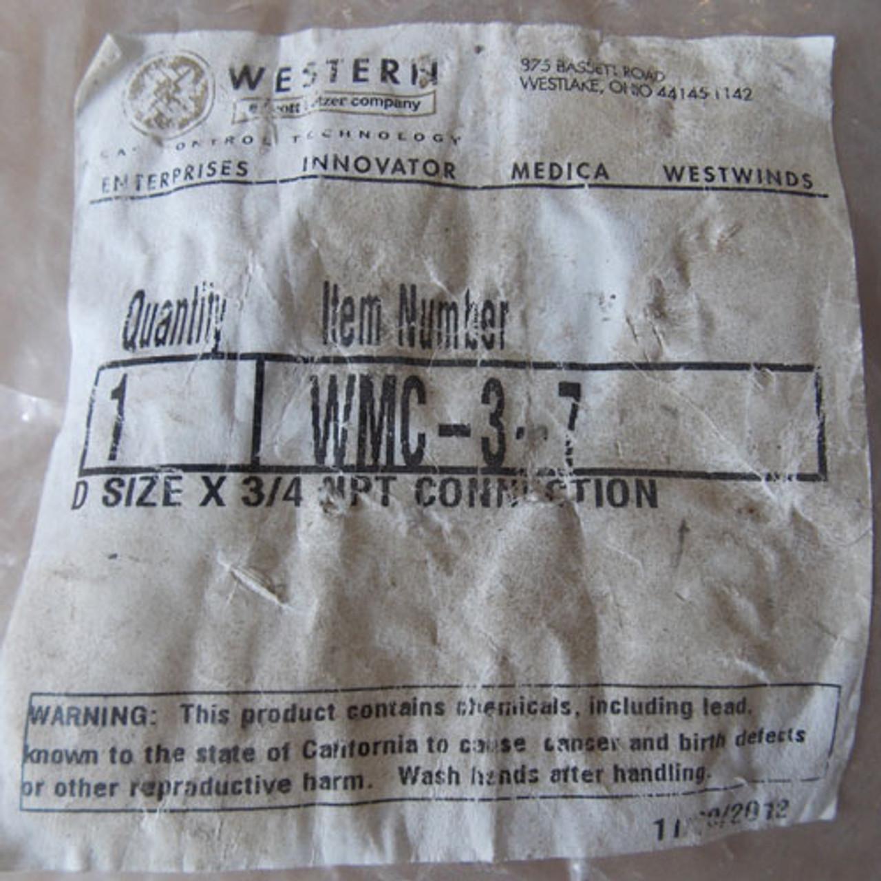 "Western WMC-3-7 D Size x 3/4"" NPT Connection - New"