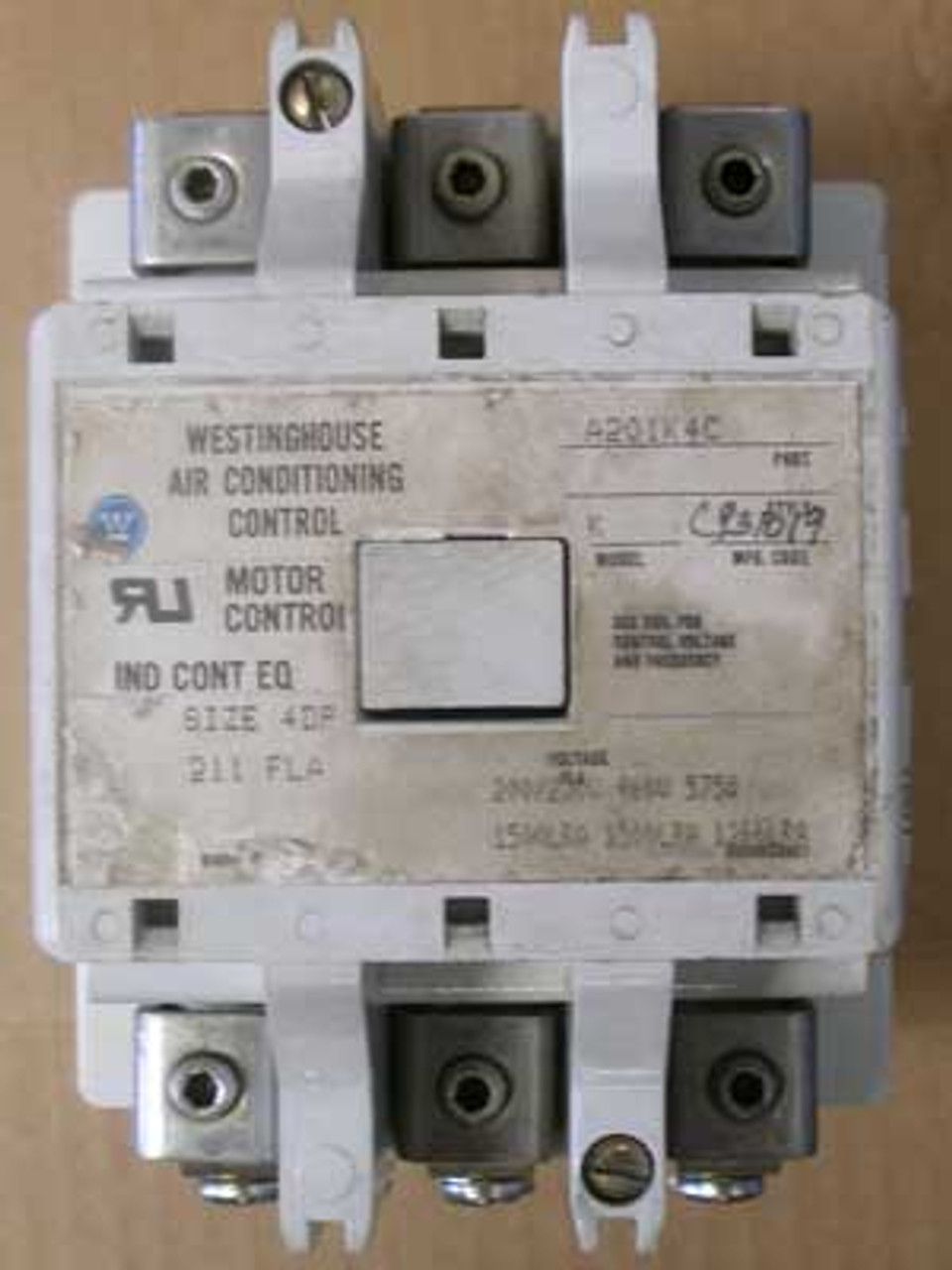 Westinghouse A201K4C Air Cond. Control Motor Size 4DP 211A - Used
