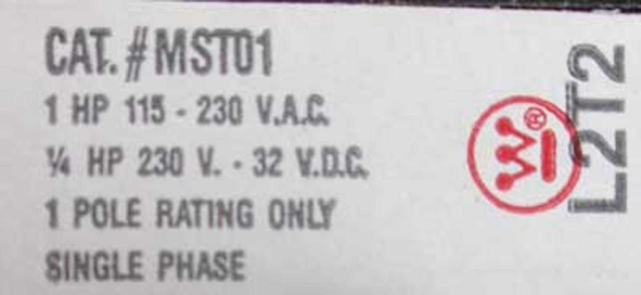 Westinghouse MST01SN Toggle Manual Starter 1 Pole Nema 1 - New