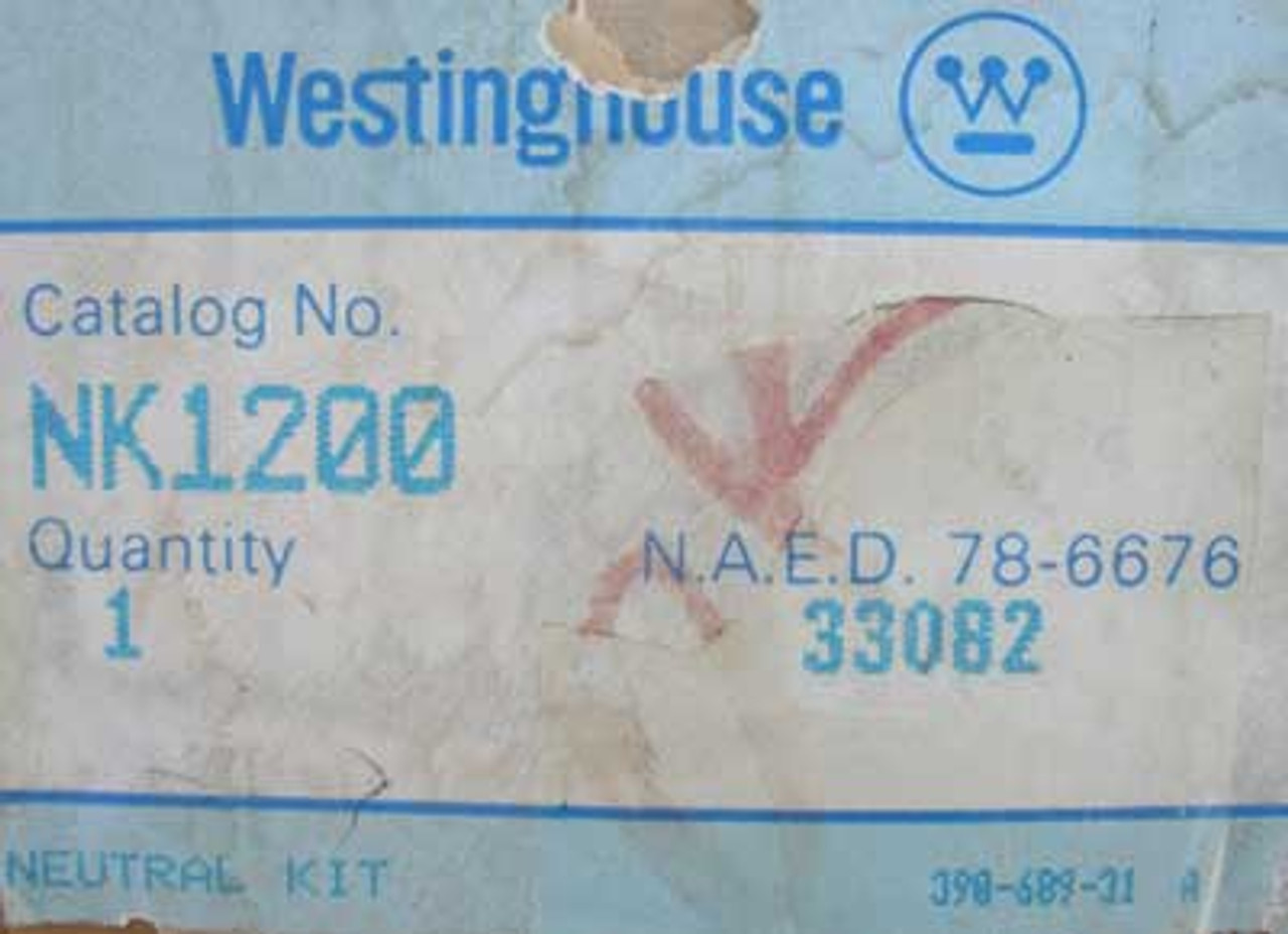 Westinghouse NK1200 Neutral Kit - New