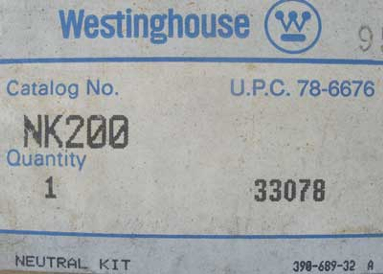 Westinghouse NK200 Neutral Kit - New