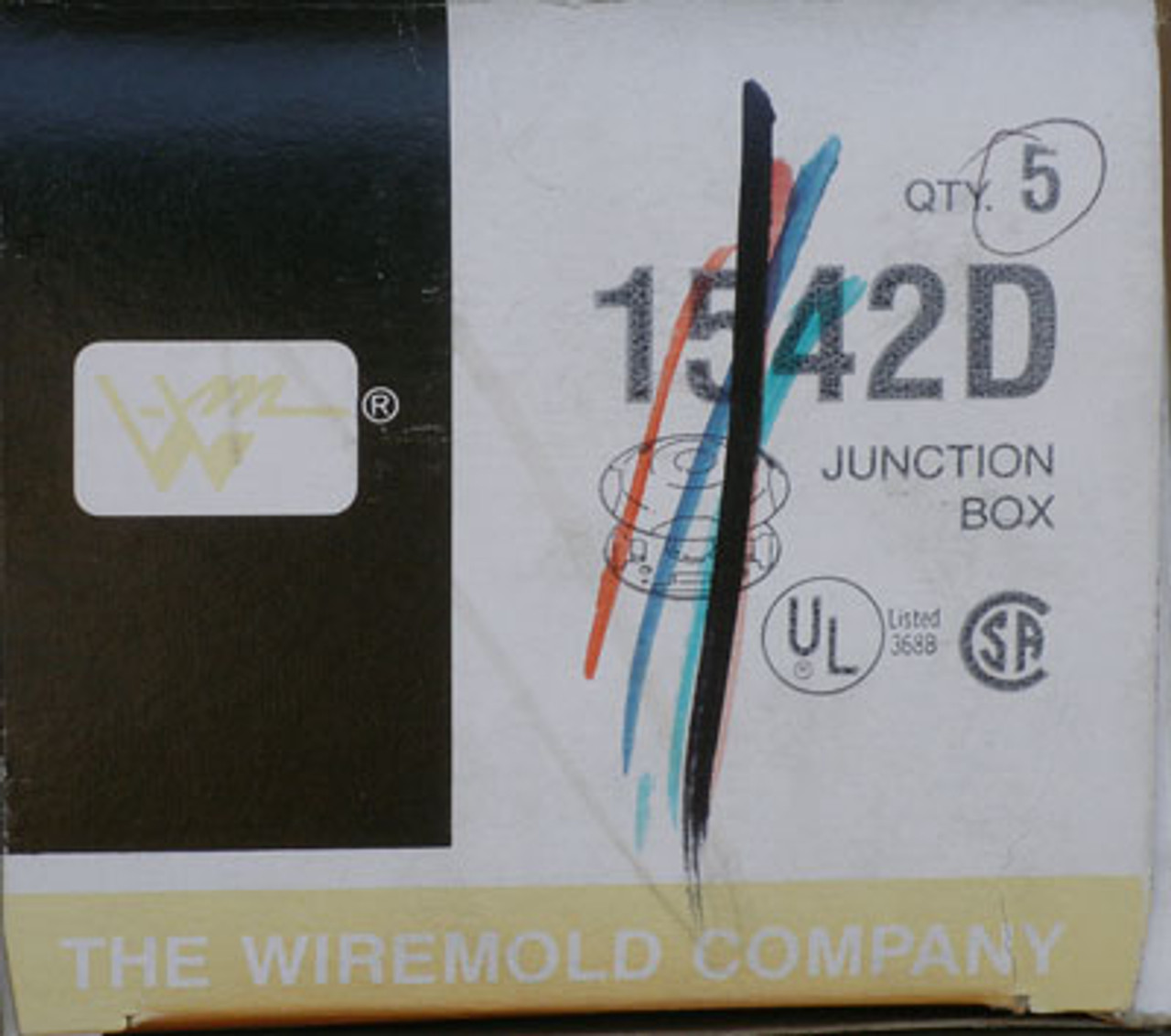 Wiremold 1542D Junction Box Qty 5 - New