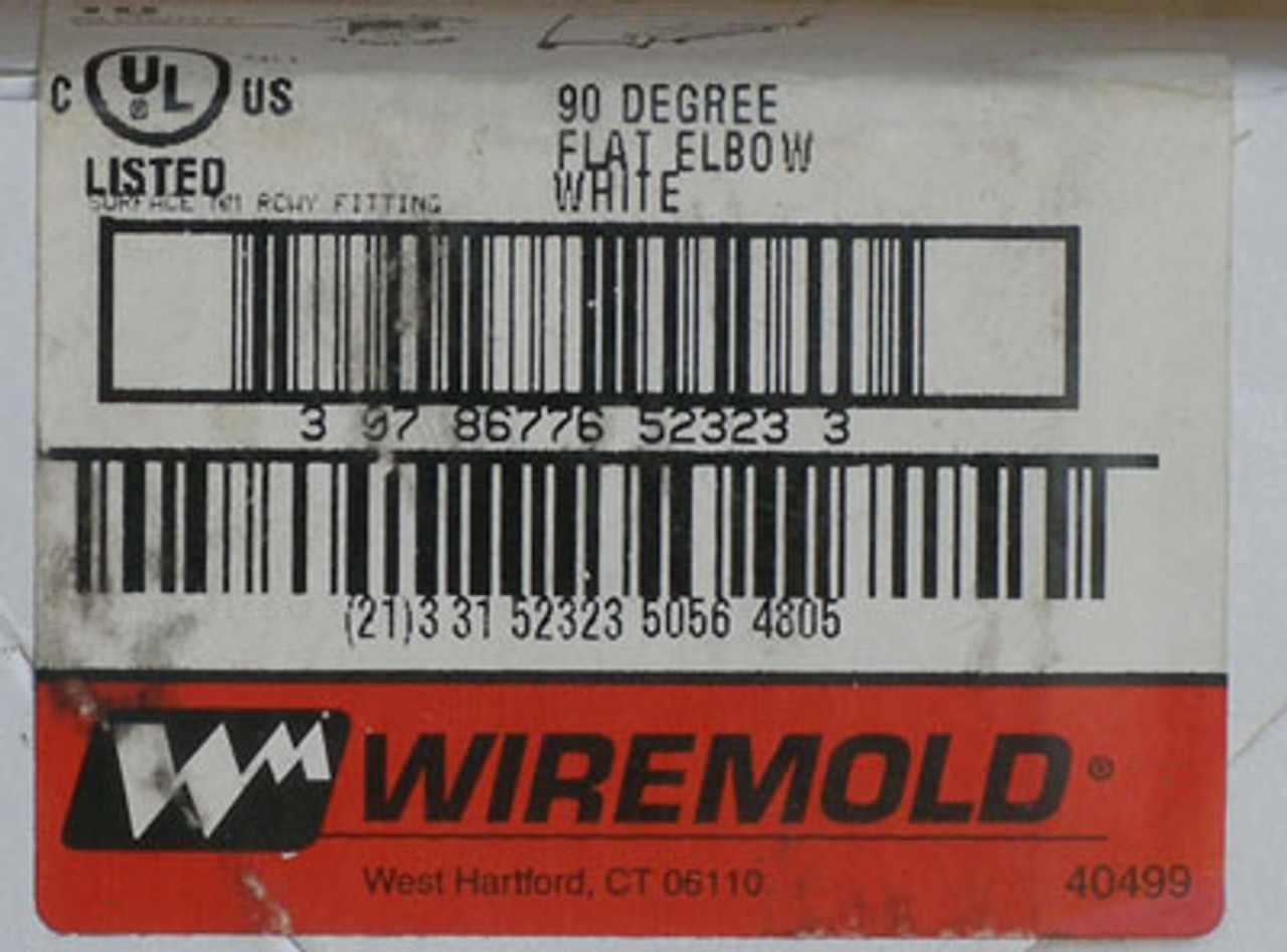 Wiremold 90 Degree Flat Elbow White box of 10 - NEW