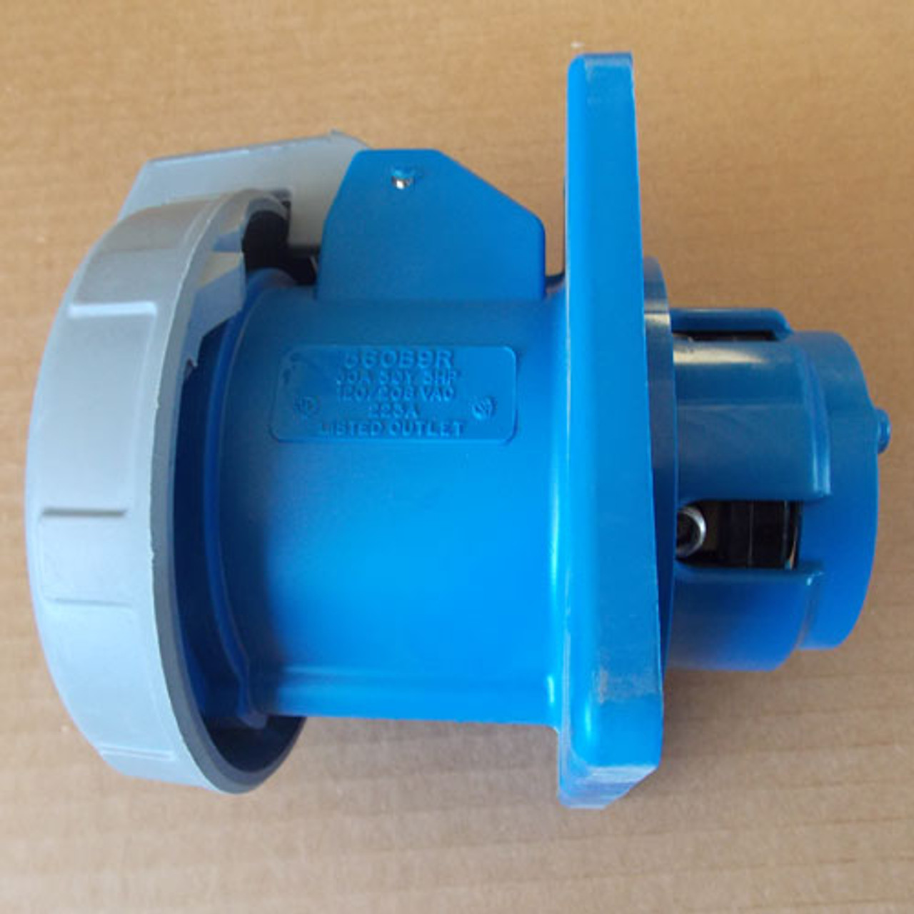 Hubbell HBL560B9R 4 Pole 60A 30Y 3HP 120/208V Watertight P&S Inlet - New