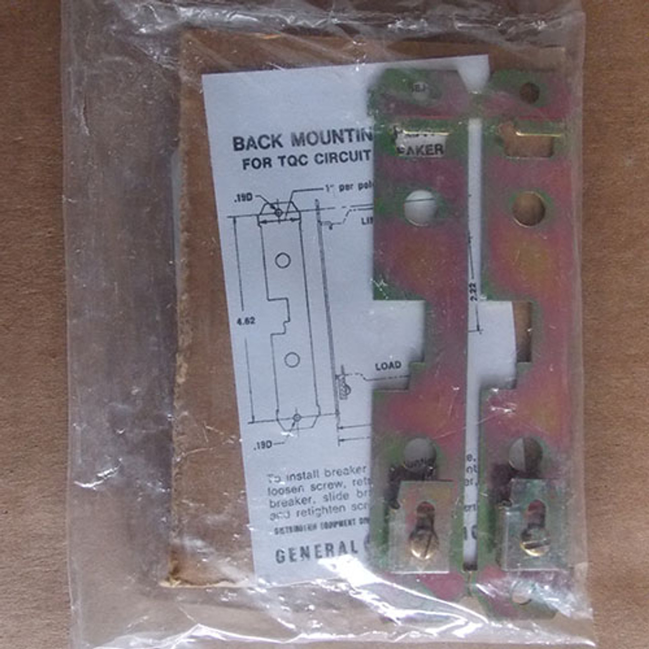 General Electric TQCBMPA2 Back Mounting Plate, Screw Type- 2Pole - New