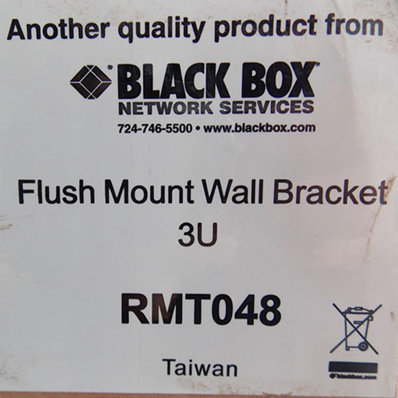 "Black Box RMT048 Flush Mount Wall Bracket 3 Unit 19"" Black- New"