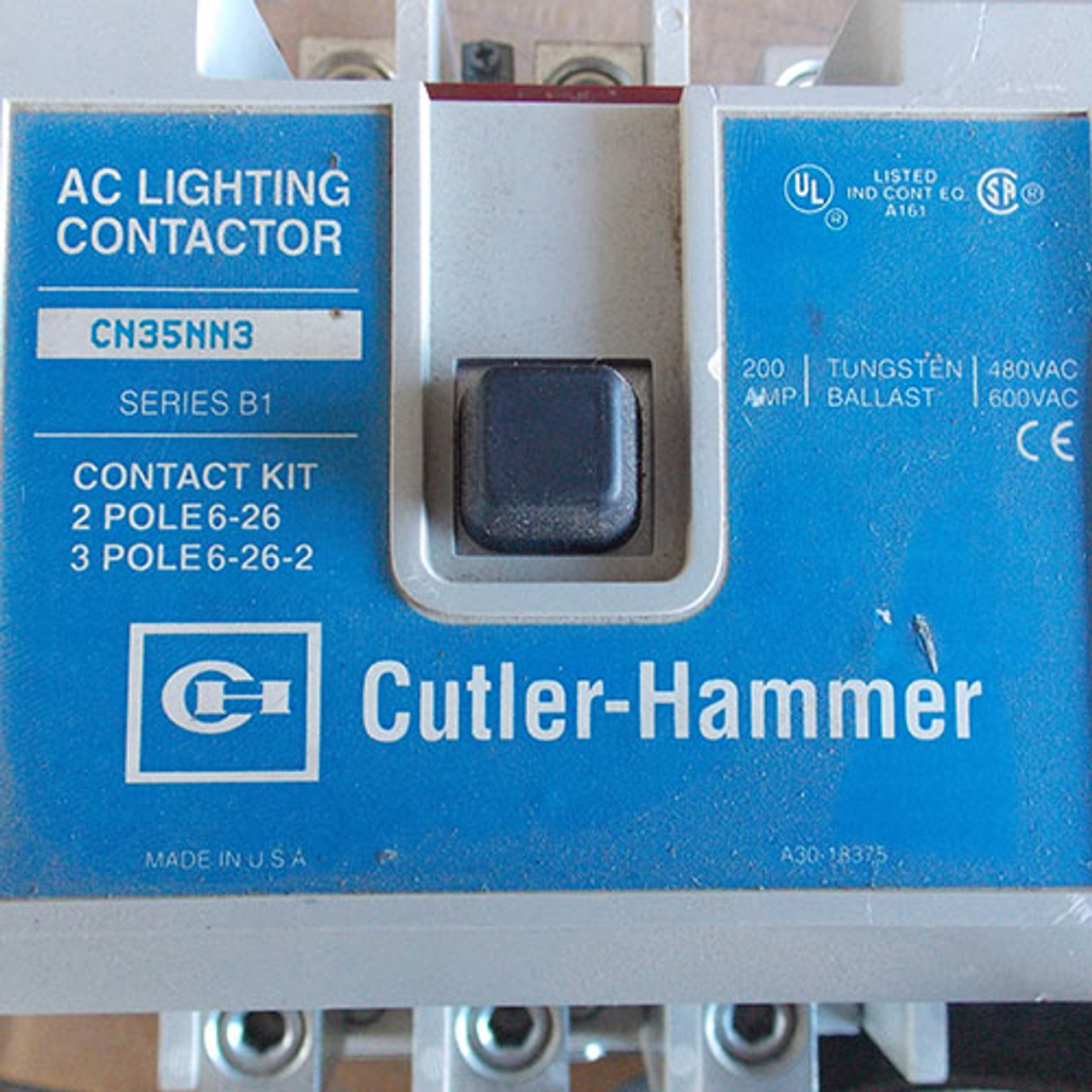 Cutler Hammer CN35NN3 AC Lighting Contactor 200 Amp 3 Pole 480V Coil - Used