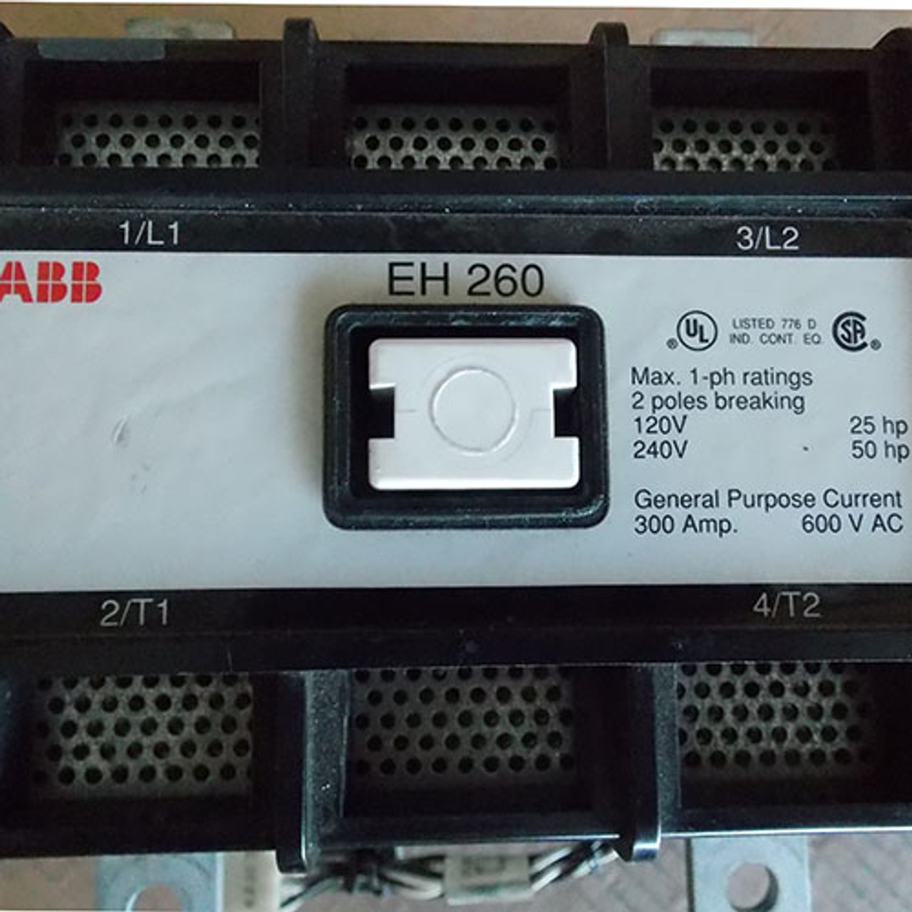 ABB EH260 300 Amp 600V 2 Pole 24VDC Magnetic Contactor - Used