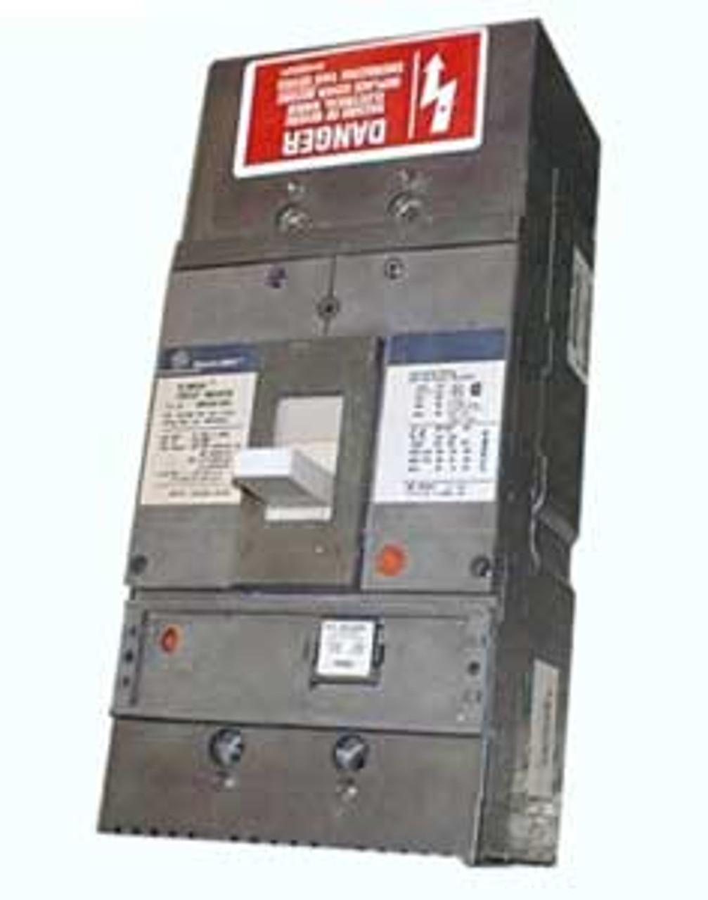 GE SGLA36AT0400 3 Pole 125Amp Plug 600V 65K@480V Circuit Breaker - Used