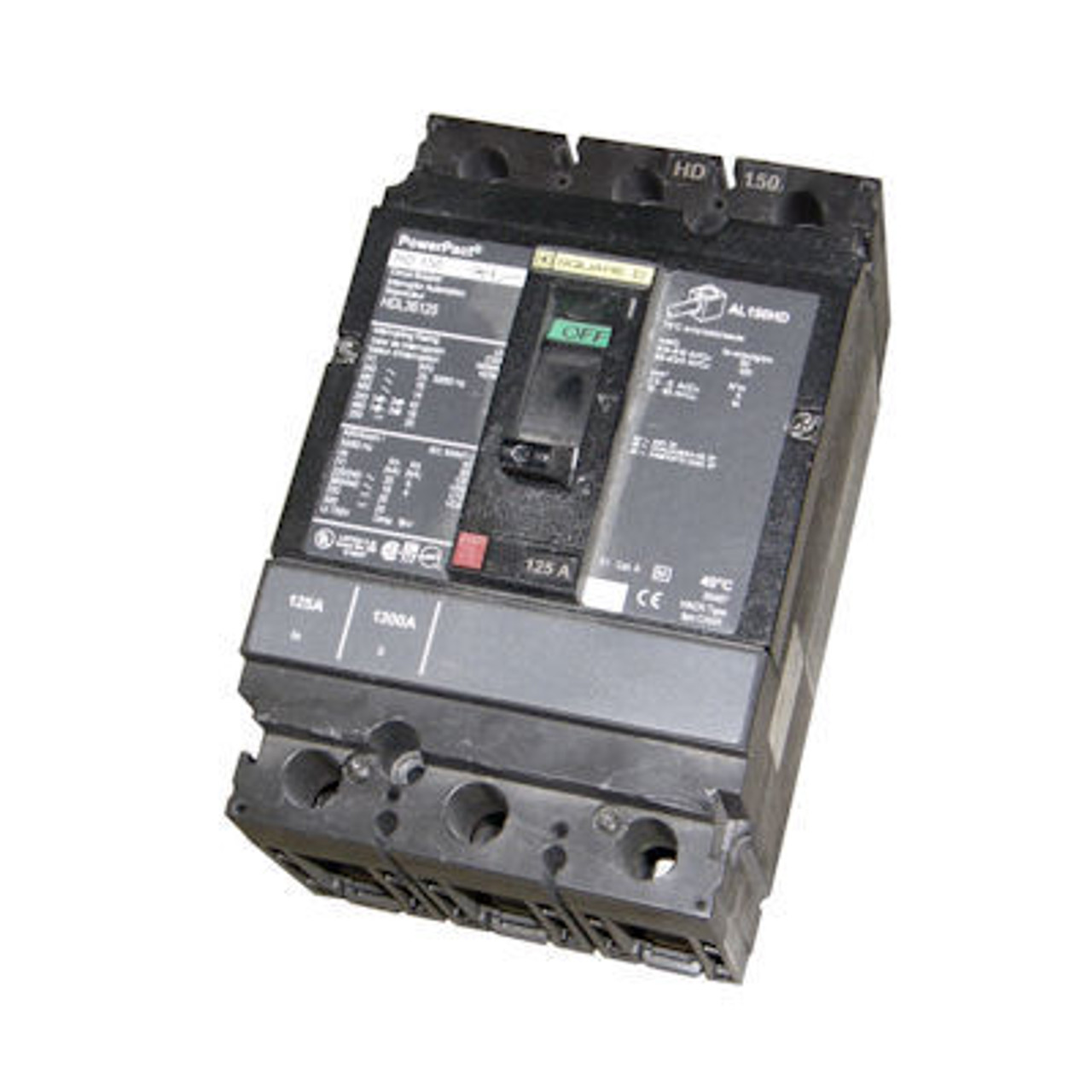 Square D HJL36070 3 Pole 70 Amp 600VAC 65K MC Circuit Breaker  - Used