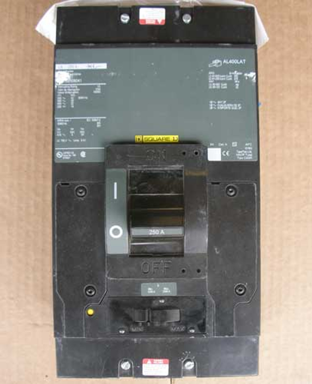 Square D LAL36250MB 3 Pole 250 Amp 600 VAC MB Style Circuit Breaker - Used