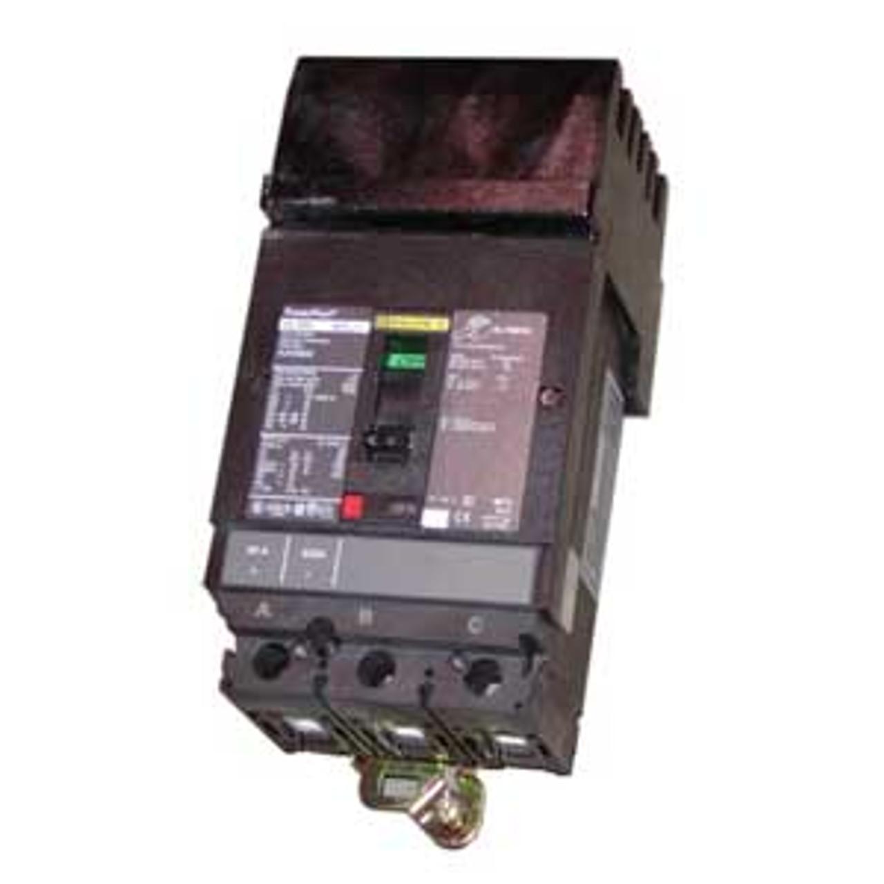 Square D HGA36090 3 Pole 90 Amp 600VAC MC Circuit Breaker - Used