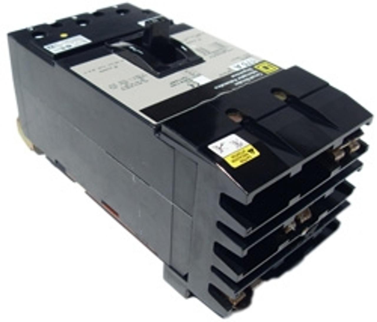 Square D KI36200 3 Pole 200 Amp 600 VAC MC Circuit Breaker - Used