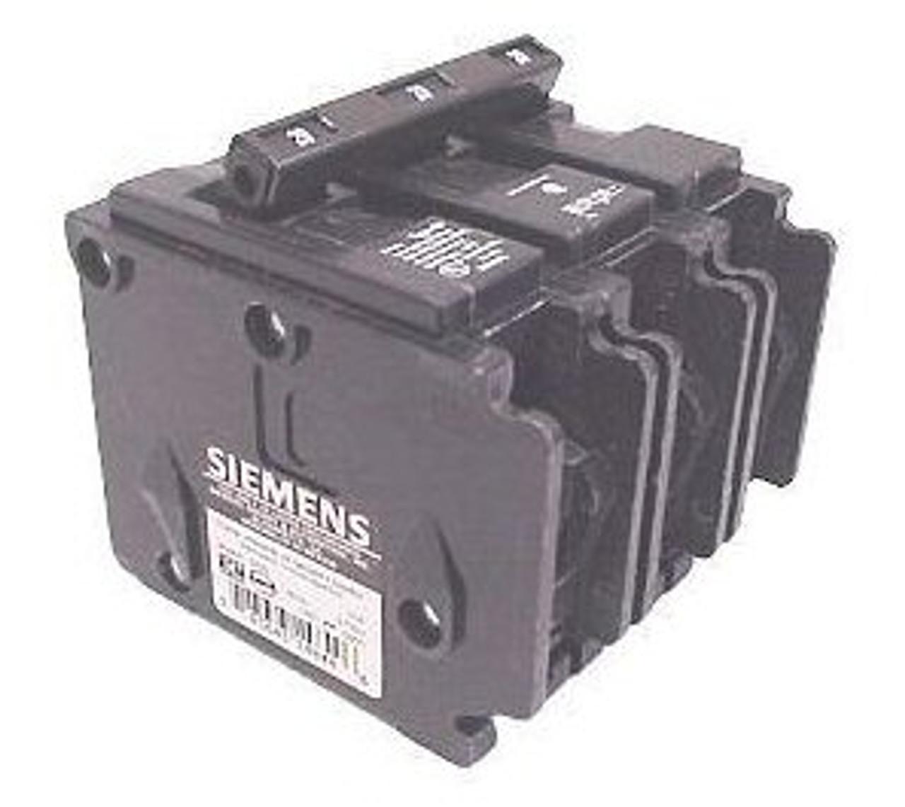 Siemens Q33000S7 3 Pole 30 Amp 240V 24V Shunt QP Circuit Breaker - Used