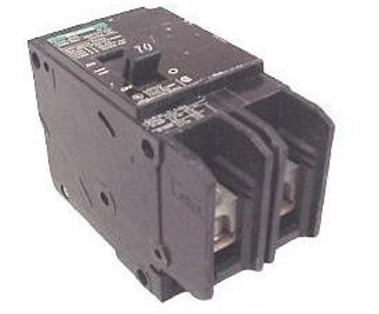 Siemens BQD2100 2 Pole 100 Amp 480VAC MC Circuit Breaker - Used