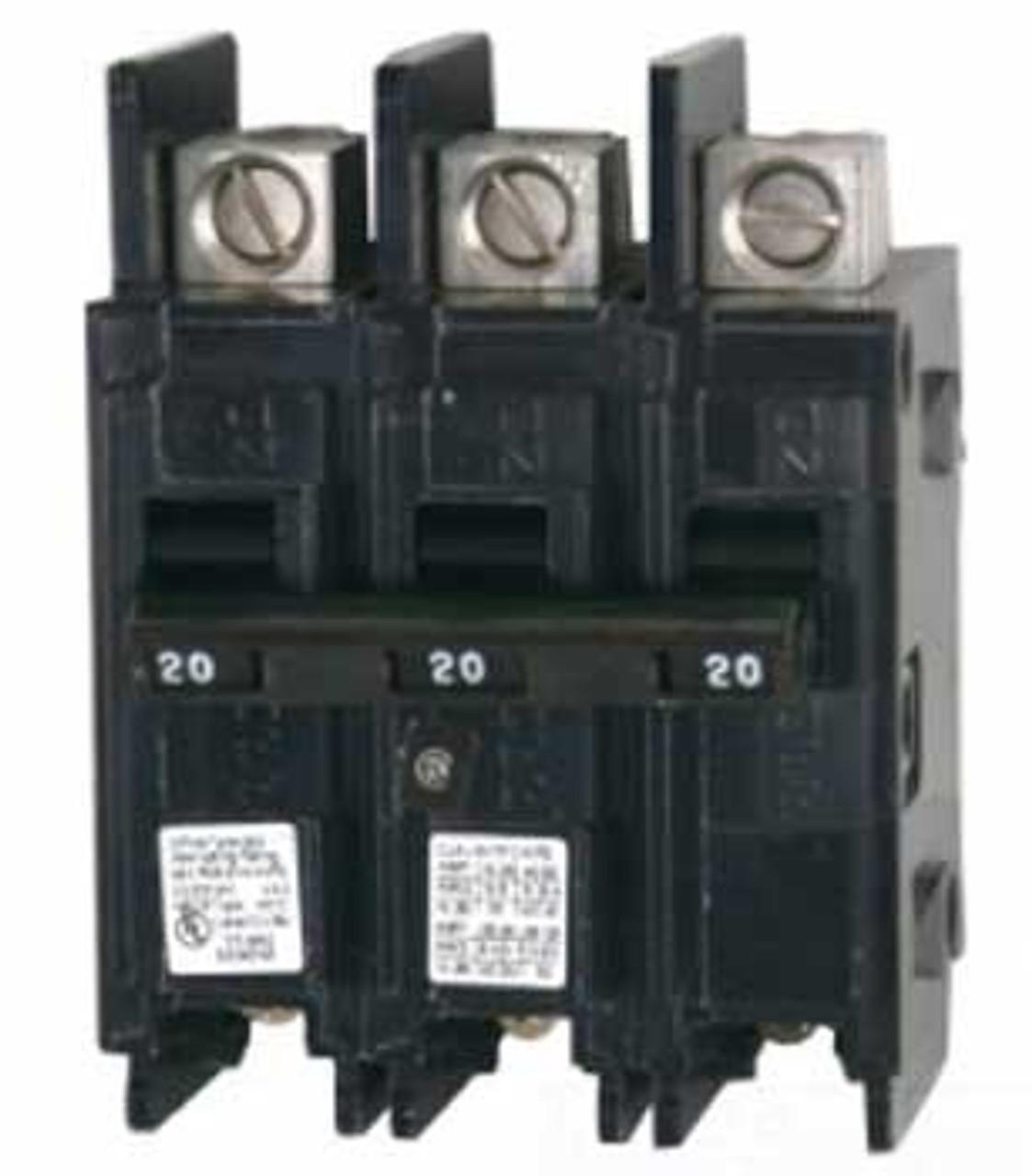 Siemens BQ3B025 3 Pole 25 Amp 240VAC MC Circuit Breaker - Used