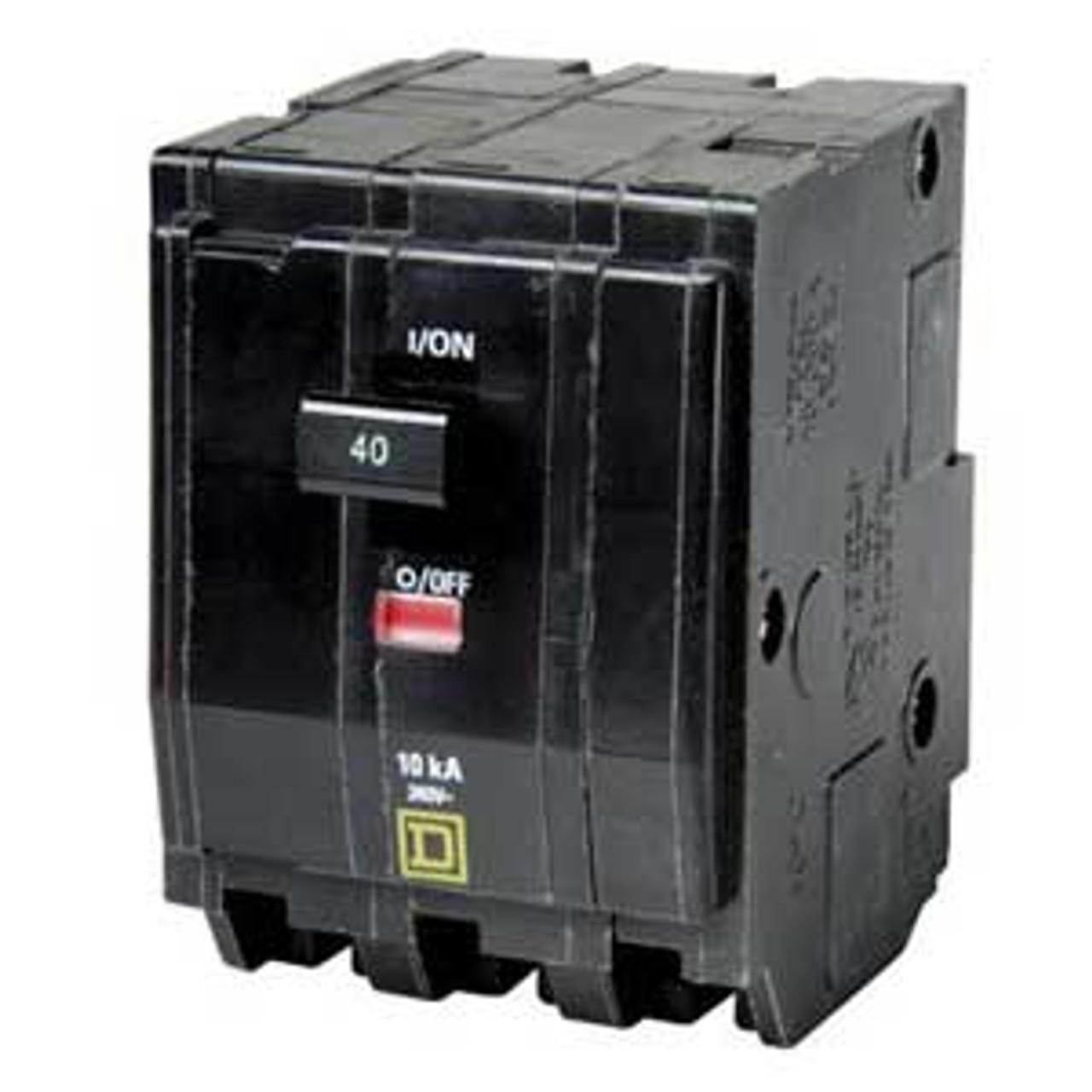 Square D QO360VH 3 Pole 60 Amp 240VAC 22K Circuit Breaker - New Pullout