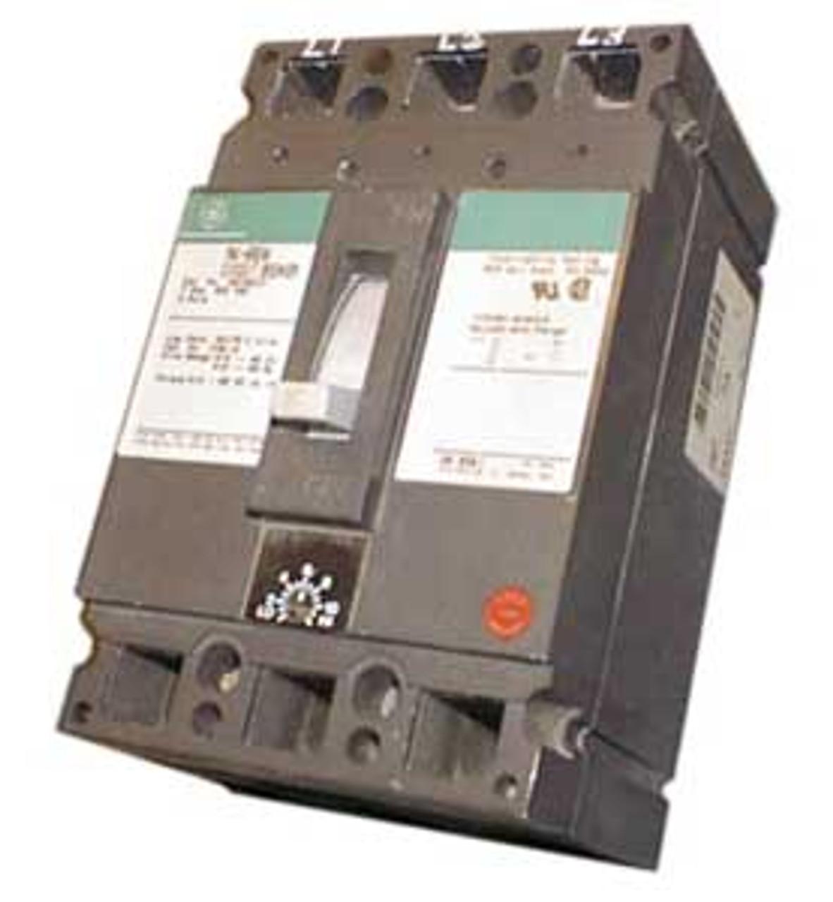 General Electric TEC36100 3 Pole 100 Amp 600VAC Circuit Breaker - Used