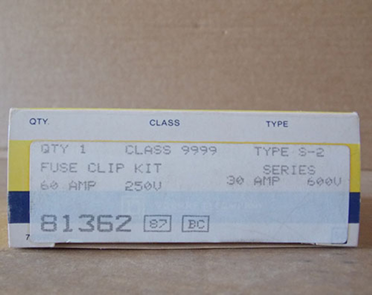 Square D 81362 Fuse Clip Kit 60A 250V, 30A 600V Type S-2 - New