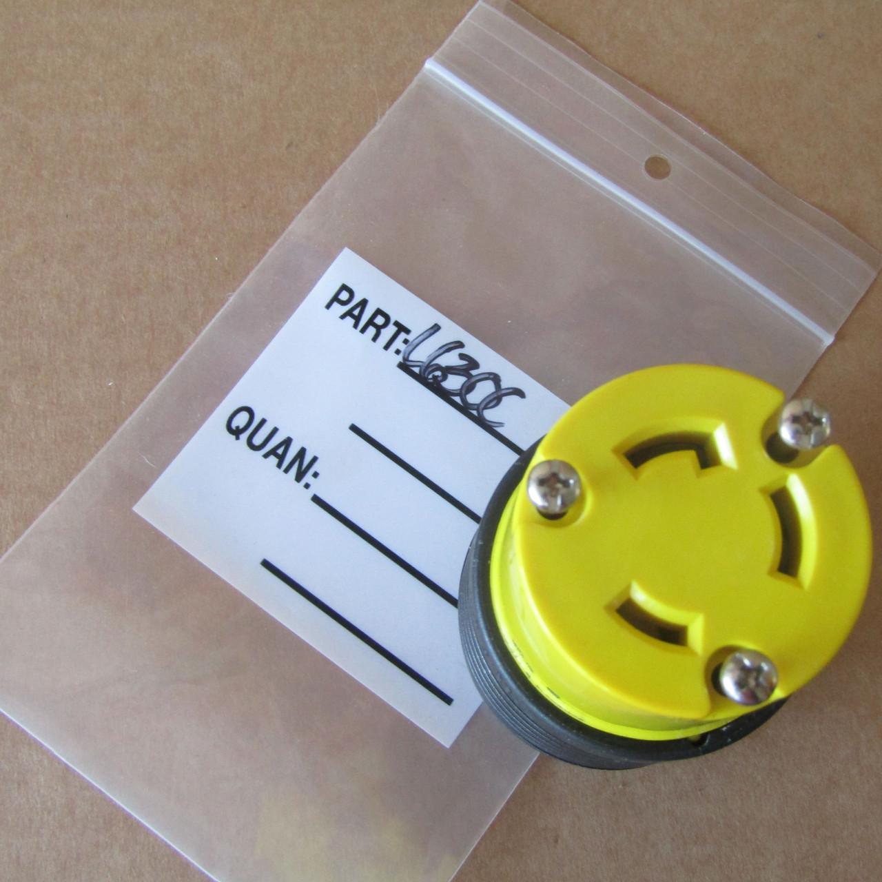 Legrand L630-C Turnlok Plug 30A 250V  2P 3W Grdg Nema L6-30R Yellow - New