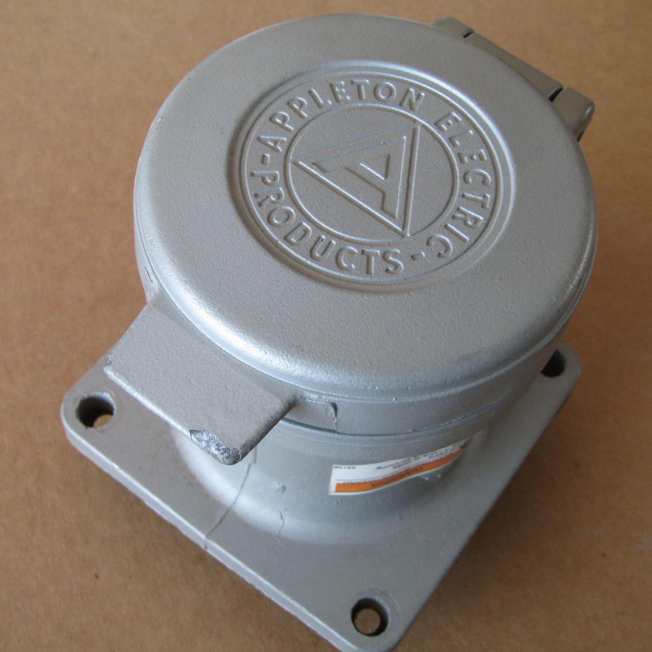 Appleton ADR6034 Powertite Receptacle 60A 3W 4P 600VAC - Used
