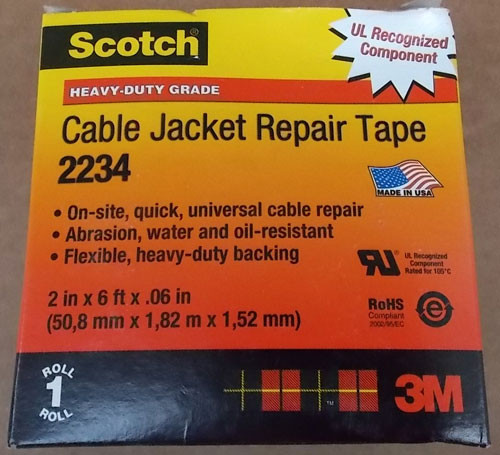 3M Scotch 2234 Cable Jacket Repair Tape 2in x 6ft .06in - New