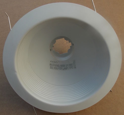 "Capri Lighting RB40W-R 6"" R40 Baffle Trim Lighting Fixture White (5Pc) - New"