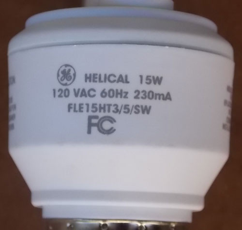 General Electric FLE15HT3 Helical 15W 120V Compact Fluorescent Lamp (5Pc) - New