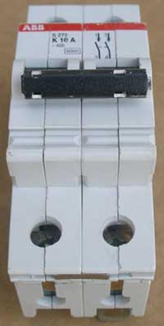 ABB S272-K10 2 Pole 10 Amp 277/480 VAC Miniature Circuit Breaker - Used