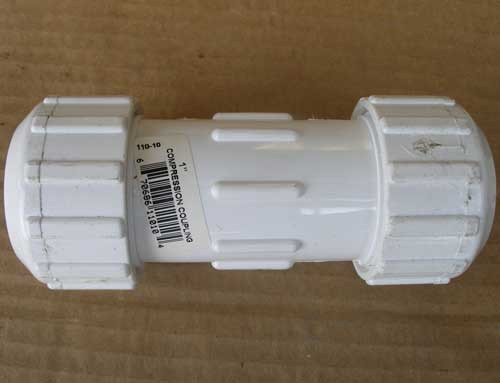 "AD Technologies 1"" PVC Compression Coupling - New"