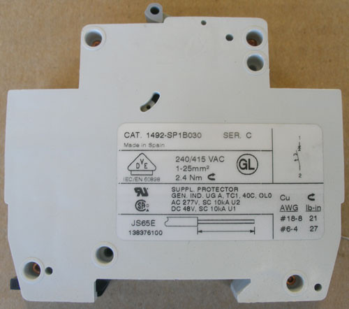 Allen Bradley 1492-SP1B030 1 Pole 3 Amp 240/415V Mini Circuit Breaker - New
