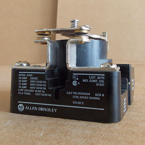 Allen-Bradley 700-HG45A24 Magnetic Relay 24V Coil Series A - Used