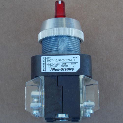 Allen-Bradley 800T-10JRH2KB7AX Illuminated Selector Switch Type 4,13  - New