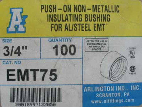 "Arlington Ind. EMT75 3/4"" Insulating Bushing (Box of 57) - New"