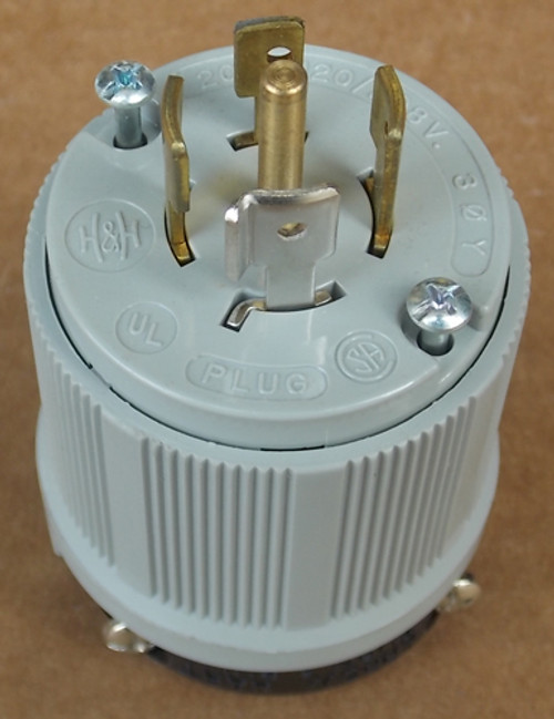 Arrow Hart 6472 20 Amp 120/208 Volts 4 Pole 3 Phase 5 Wire Locking Plug - New