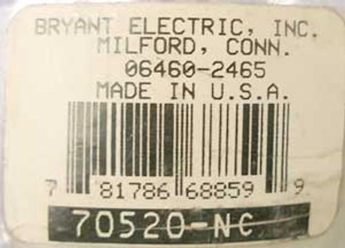 Bryant 70520-NC 20 Amp 125 Volt 2 Pole Locking Plug - New