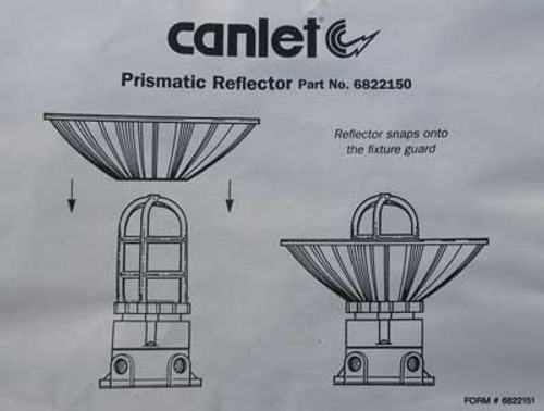 Canlet Vaporproof Ceiling Mount Fixture with Prismatic Reflector - New