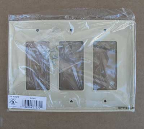 Cooper PJ263V 3 Gang Ivory Mid-Size Wallplate (Lot of 15) - New