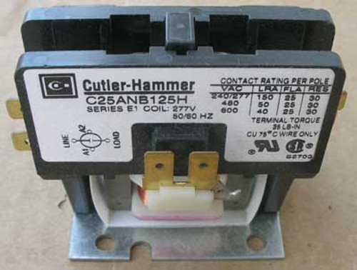 Cutler Hammer C25ANB125H Def Purpose Contactor 1 Pole 25A 600V Open - New