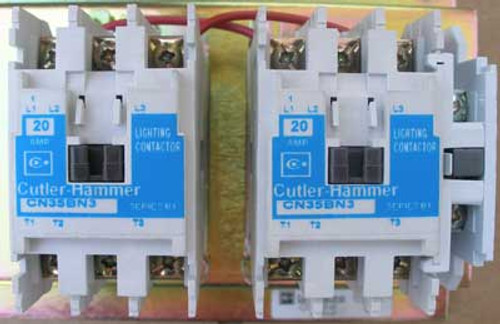 Cutler Hammer CN35BN6HB Lighting Contactor 6 Pole 20 Amp 277V Open - New