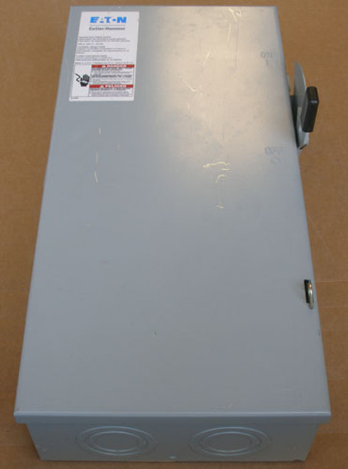 Cutler Hammer DG223NGB Fusible Safety Switch 100A 240V 1Ph 2P N1 - Used