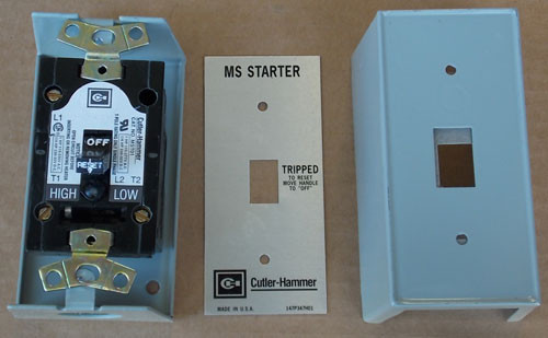 Cutler Hammer MST01SN 1 Pole 120/240V Toggle Switch Manual Starter N1